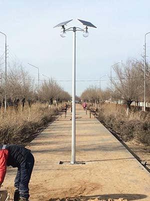 12w solar moon light project in Kazakhstan-1