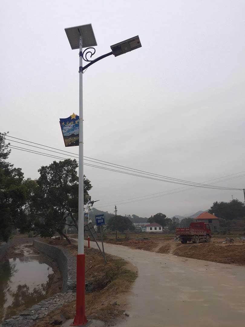Fly dragon light in village road-2